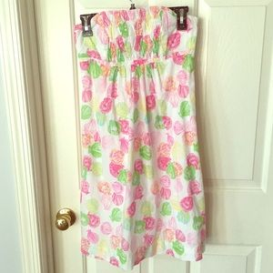 Lilly Pulitzer white label strapless dress